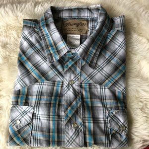 Wrangler Western Fashion Snap Shirt XXL Plaid